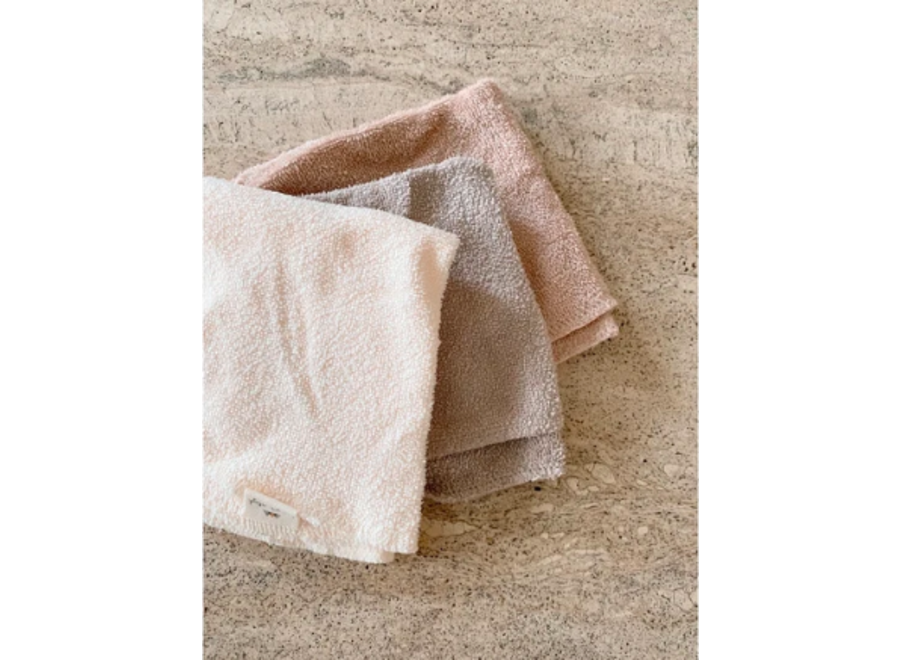 3 Pack Terry Wash Cloths - Shades of Sand