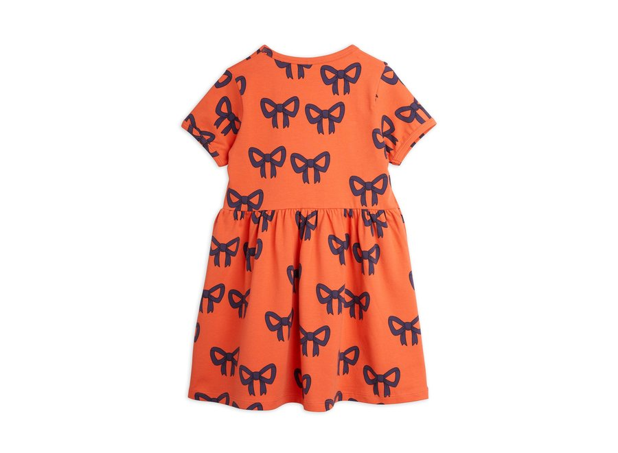Bow Aop Ss Dress Red
