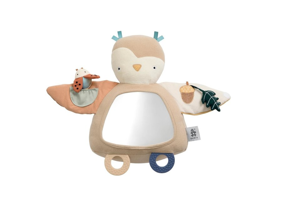 Activity toy, Blinky the owl, maple beige