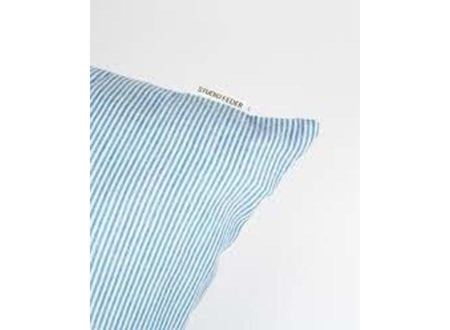 Cot/Lin Pillow - Milk Stripe