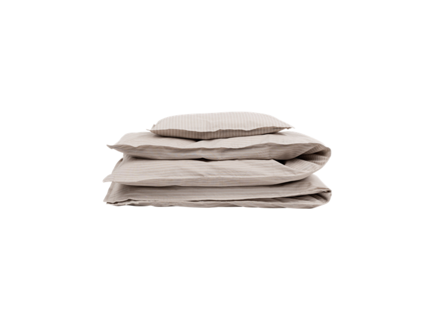 Adult Bedding - Beige Pin