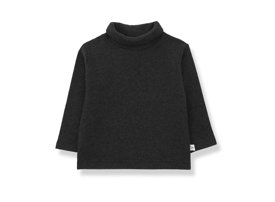 Ares Turtleneck Top Charcoal