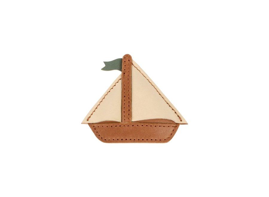 Como hairclip boat cognac classic leather
