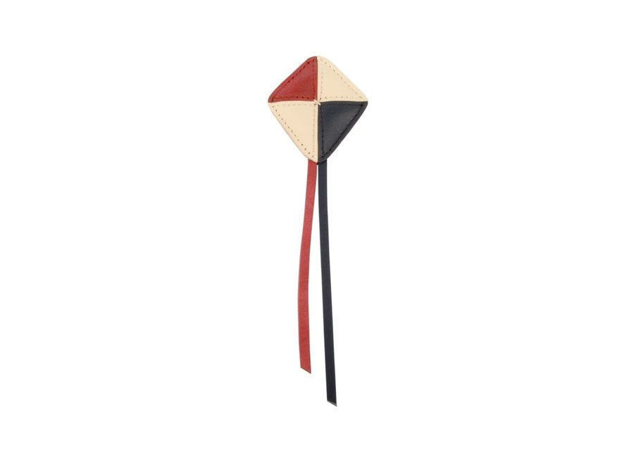 Como hairclip kite scarlet classic leather
