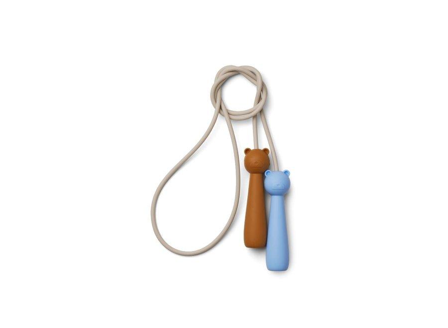 Birdie skipping rope - Sky blue multi mix