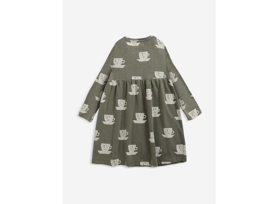 Cup Of Tea All Over midi dress Dried Herb