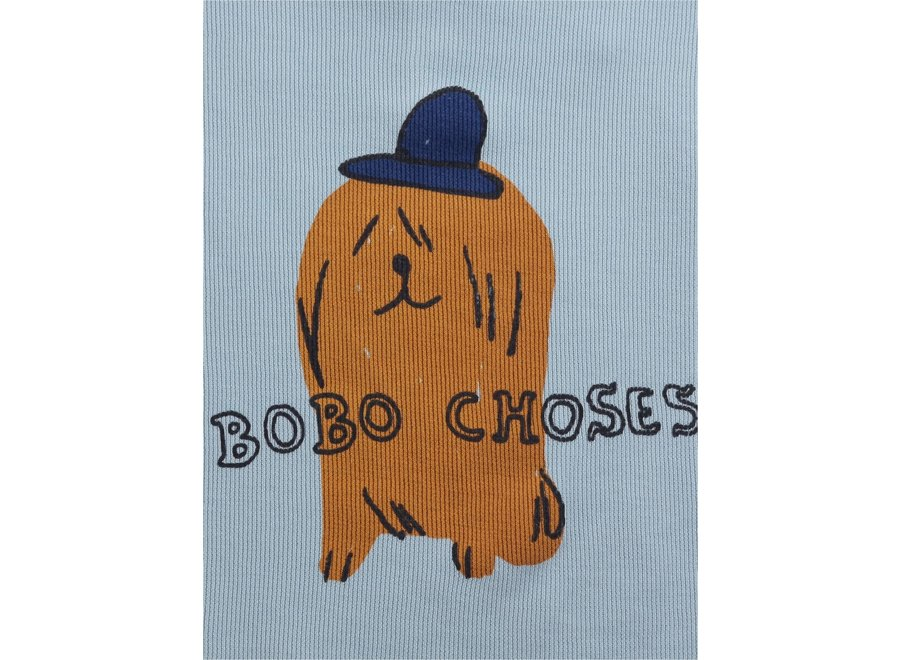Dog In The Hat fleece dress Ballad Blue