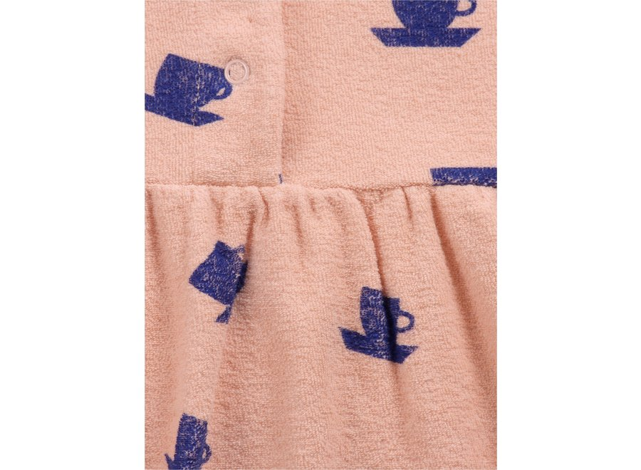 Cup Of Tea All Over terry dress Rose Cloud
