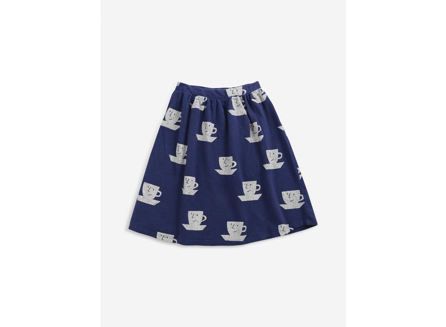 Cup Of Tea All Over midi skirt Royal Blue