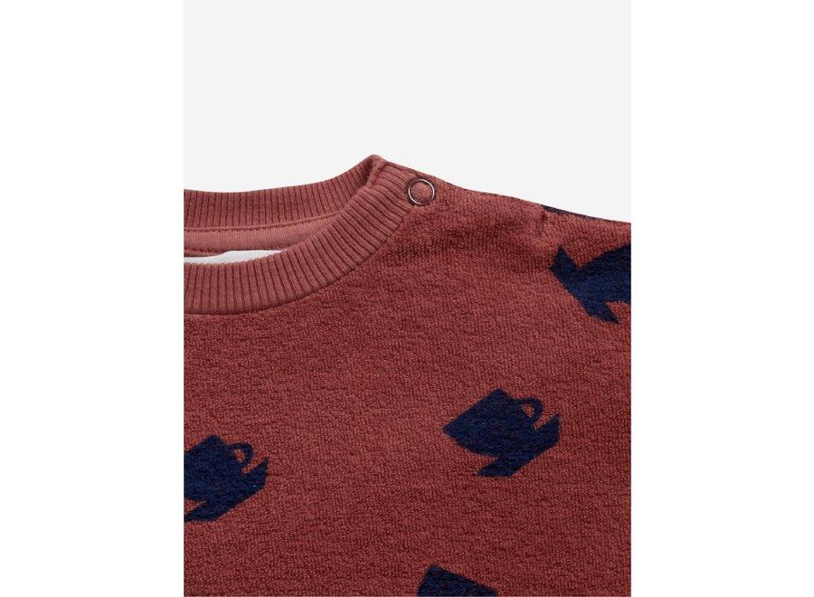 Cup Of Tea All Over terry sweatshirt Tandoori Spice