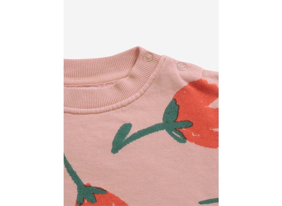 Big Flowers All Over sweatshirt Rose Cloud