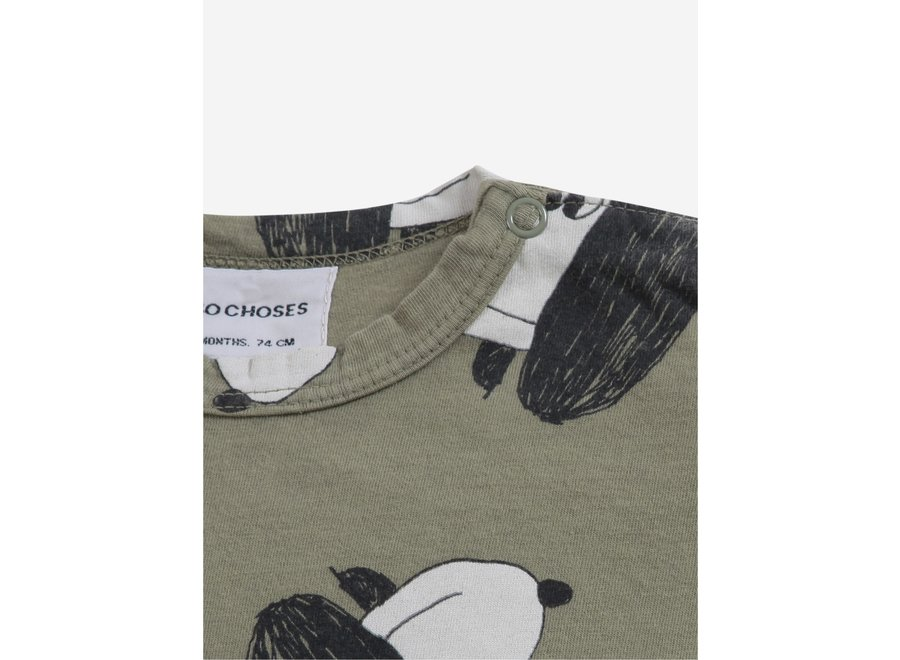Doggie All Over long sleeve T-shirt Dried Herb