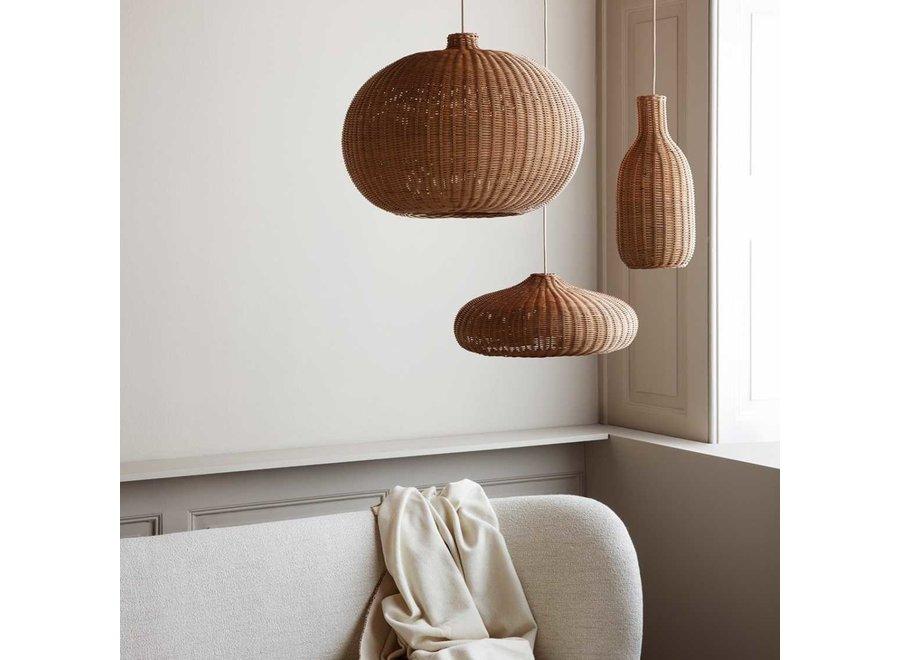 Braided Lampshade - Disc Natural