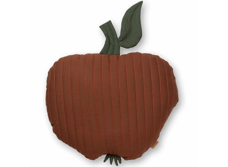 Apple Quilted Cushion - Cinnamon