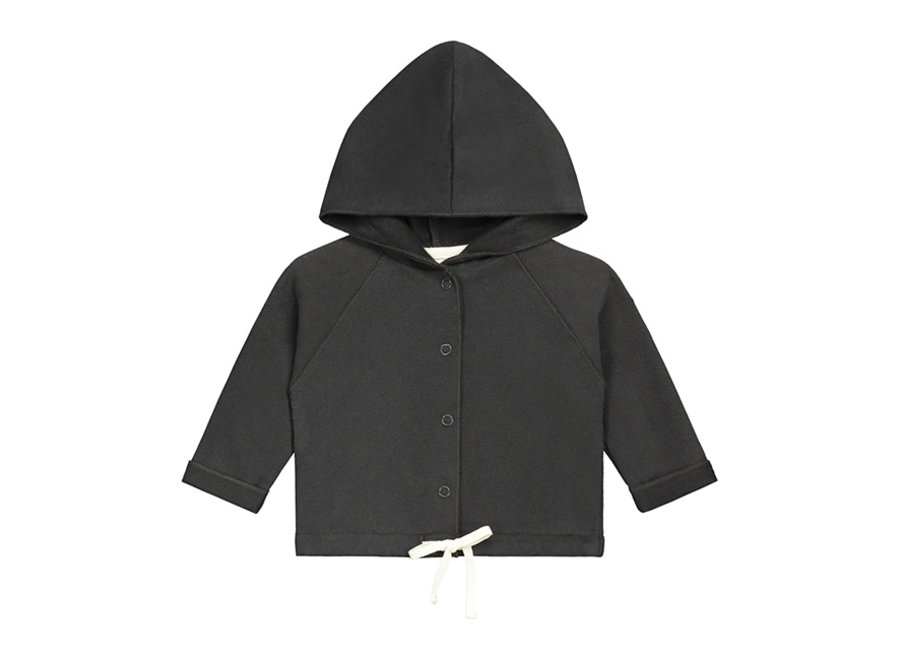 Baby Hooded Cardigan GOTS Nearly Black