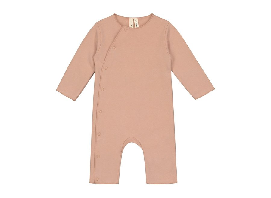 Baby Suit with Snaps GOTS Rustic Clay