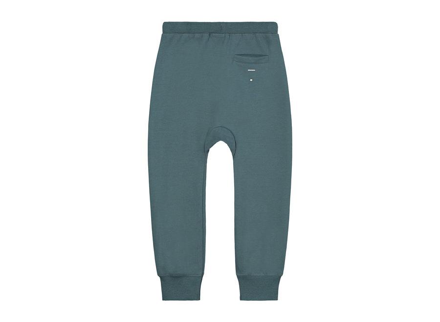 Baggy Pants GOTS Blue Grey
