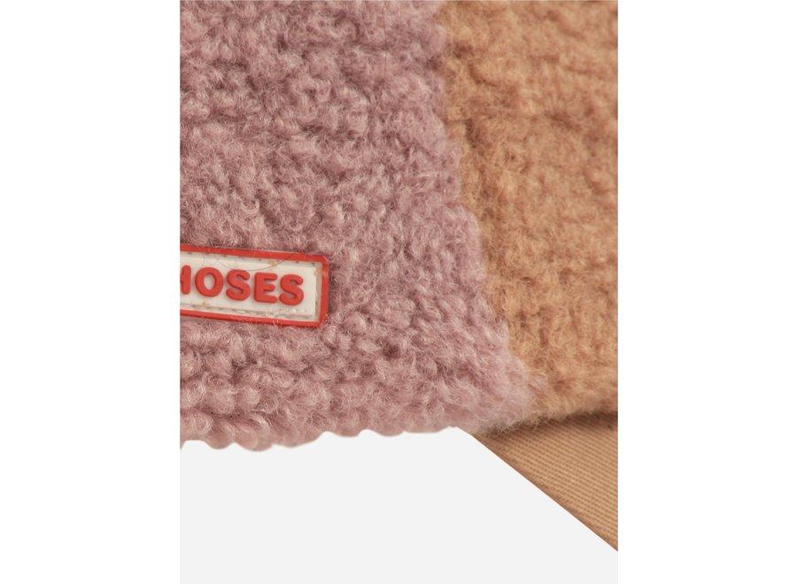 Color Block sheepskin cap Mesa Rose