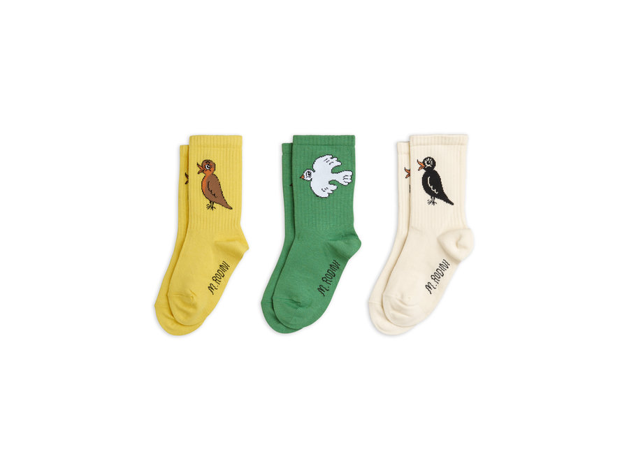 Birdswatching Socks 3-Pack Multi