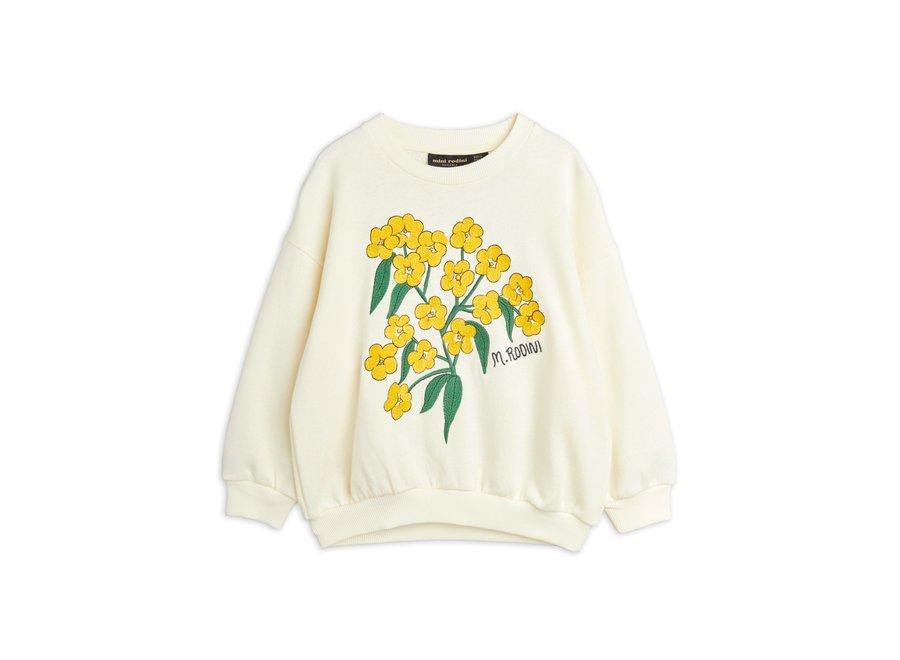 Alpine Flowers Emb Sweatshirt White