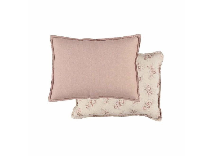 Camomile Padded Cushion - Celia Mink/ Stone