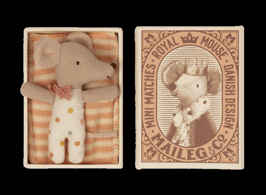 Baby mouse, Sleepy/wakey in matchbox - Girl