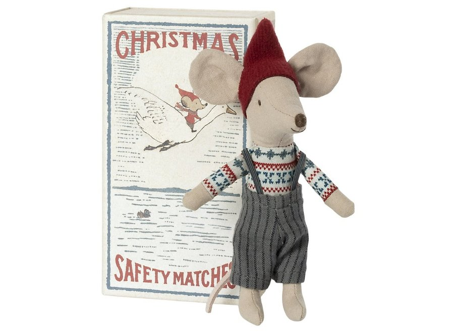 Christmas mouse in matchbox - Big brother