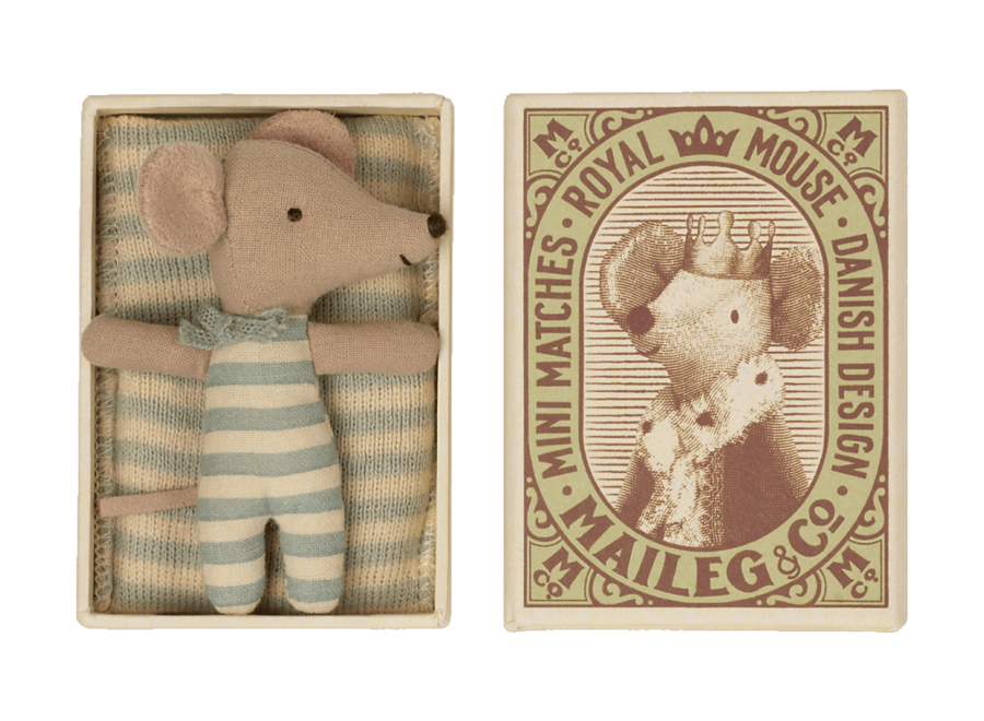 Baby mouse, Sleepy/wakey in matchbox - boy