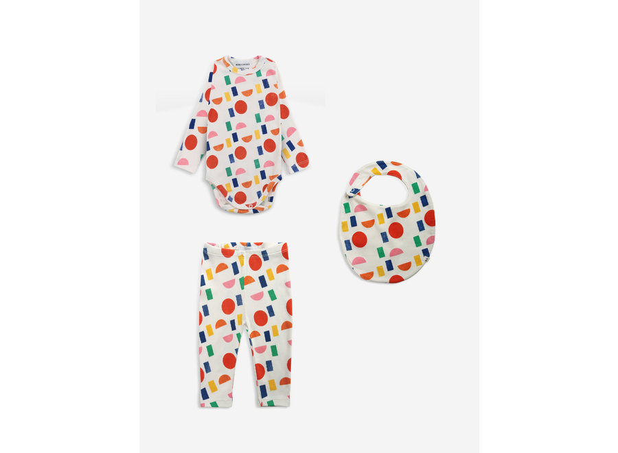 Color Play allover baby set  Antique White
