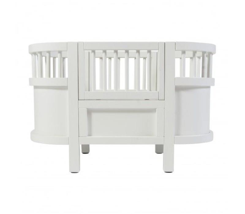 Sebra dolls bed, white