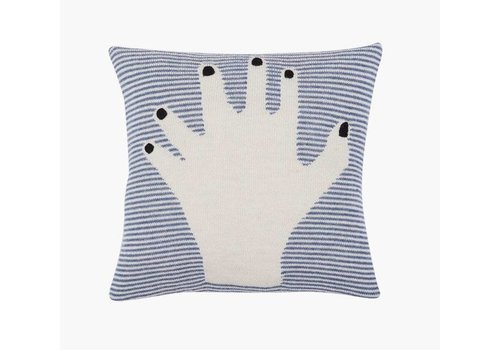 LUCKYBOYSUNDAY Fancy Finger Pillow Case blue