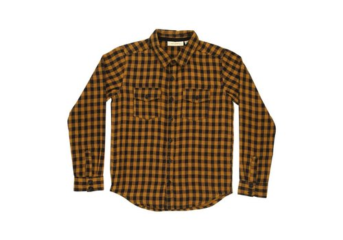 Soft Gallery Severin Shirt	/ Curry, AOP Double Check Check