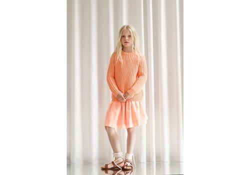 Designers Remix Girls Jr Carola Sweater Neon Orange