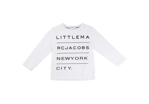 Little Marc Jacobs Tee-Shirt Manches Blanc, T-Shirt