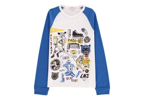 Little Marc Jacobs Tee-Shirt Manches Blanc Blue, T-Shirt