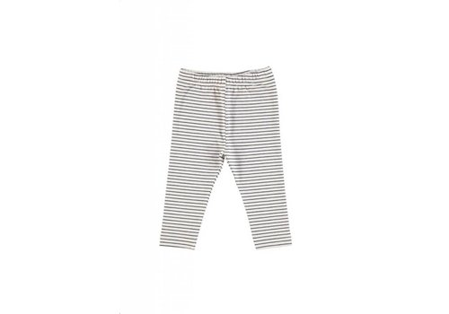 GRO Company GRO STRIPE BABY LEGGINGS ECRU/ DARK NAVY