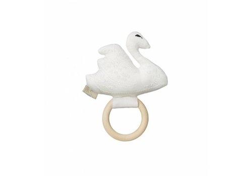 Cam Cam Copenhagen Swan Rattle Off White OCS
