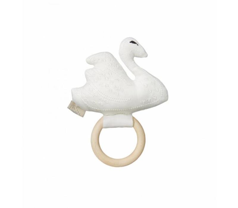 Swan Rattle Off White OCS
