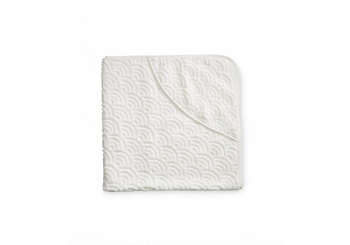 Cam Cam Copenhagen Hooded Baby Towel Off White GOTS