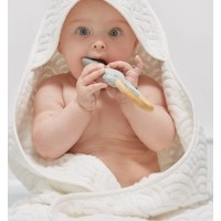 Hooded Baby Towel Off White GOTS