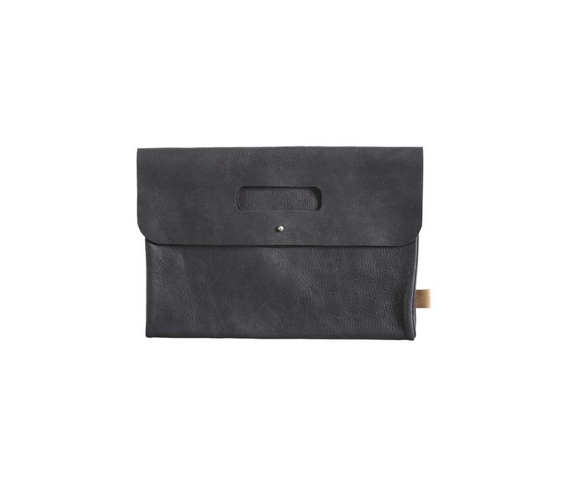 Diaper Clutch leather black