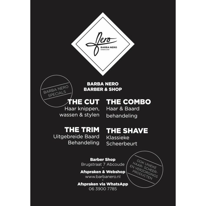 Barbershop gift card