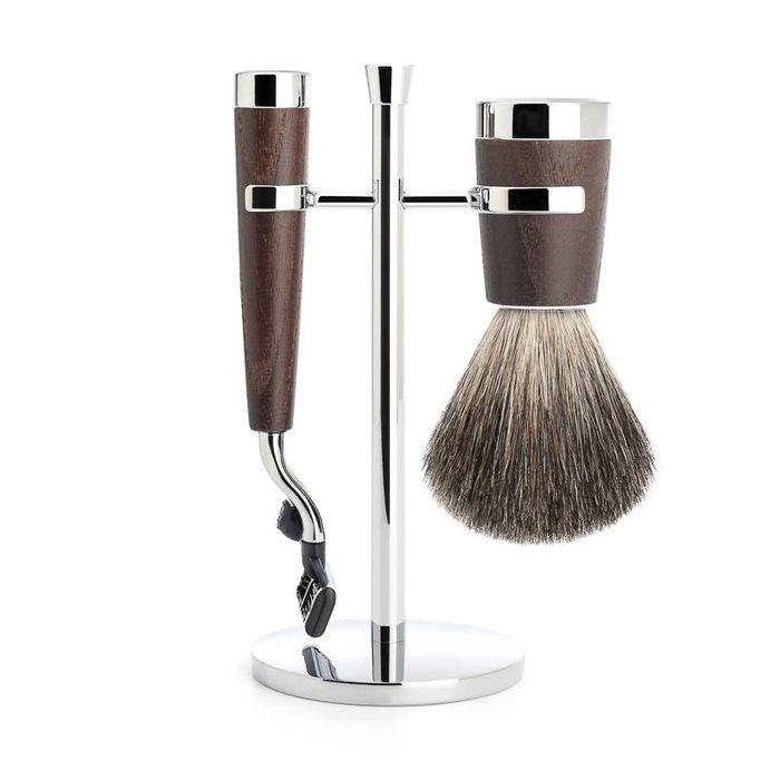 - Liscio Scheerset (Super Badger Brush, Mach3 Razor & Holder)