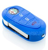 Alfa Romeo SleutelCover - Blauw / Silicone sleutelhoesje / beschermhoesje autosleutel