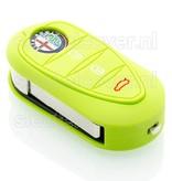 Alfa Romeo SleutelCover -  Lime groen / Silicone sleutelhoesje / beschermhoesje autosleutel