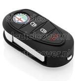 Alfa Romeo SleutelCover - Zwart / Silicone sleutelhoesje / beschermhoesje autosleutel