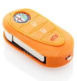 Alfa Romeo SleutelCover - Oranje / Silicone sleutelhoesje / beschermhoesje autosleutel