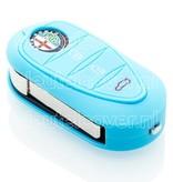 Alfa Romeo SleutelCover - Lichtblauw / Silicone sleutelhoesje / beschermhoesje autosleutel