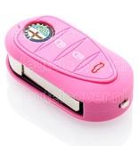 Alfa Romeo SleutelCover - Roze / Silicone sleutelhoesje / beschermhoesje autosleutel