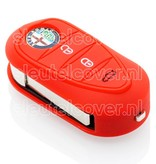 Alfa Romeo SleutelCover - Rood / Silicone sleutelhoesje / beschermhoesje autosleutel